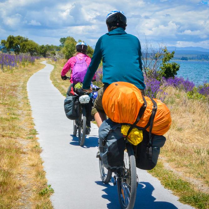 Touring bicycle riding