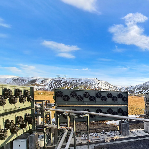 Climeworks' newest plant in Iceland, called Orca, aims to capture 4,000 tons of carbon dioxide per year. (Photo by Climeworks)